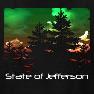 Design ~ Kid's State of Jefferson (trees) T-Shirt