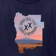 Design ~ Kid's State of Jefferson (map) T-Shirt