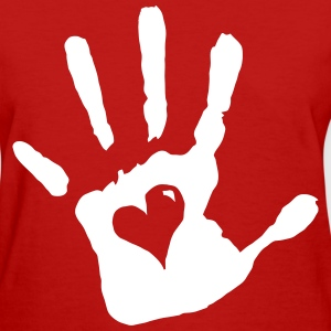 Hand Print Heart - Women's T-Shirt