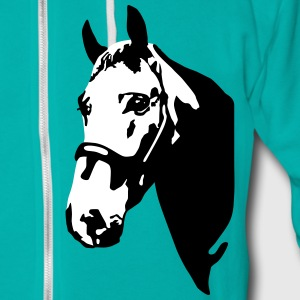 Horse, riding Zip Hoodies & Jackets - Unisex Fleece Zip Hoodie by American Apparel