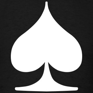 Spade Card Suite T-Shirts - Men's T-Shirt