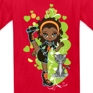 Design ~ Aisha the African American Chibi Girl