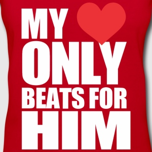 My Heart only beats for him - Women's V-Neck T-Shirt