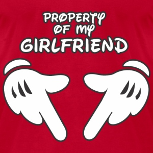 Property of my Girlfriend t-shirt - Men's T-Shirt by American Apparel