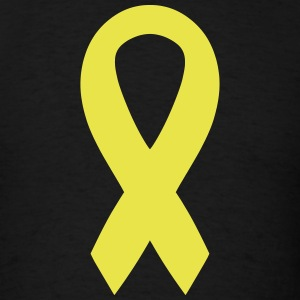 Yellow Awareness Ribbon T-Shirts - Men's T-Shirt