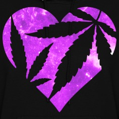 Marijuana Heart Hoodies