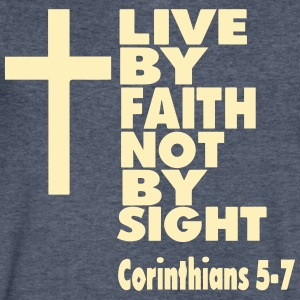 LIVE BY FAITH NOT BY SIGHT - Men's V-Neck T-Shirt by Canvas