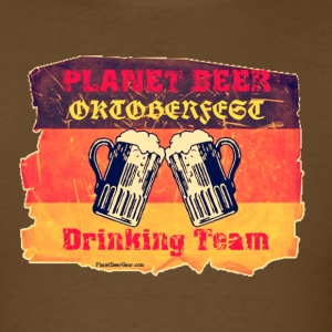 Planet Beer Retro Oktoberfest Drinking Team Men's  - Men's T-Shirt