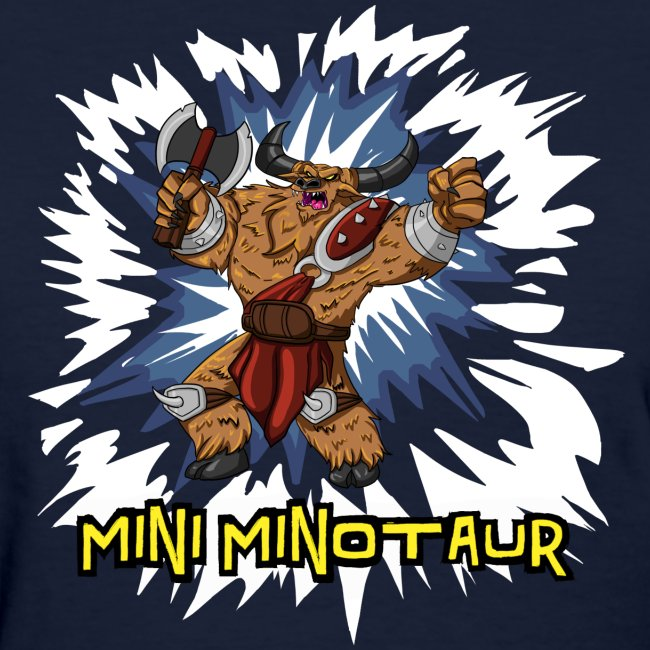 Mini Minotaur (Dark Shirt Design)