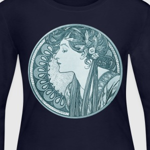 Vintage Mucha - Women's Long Sleeve Jersey T-Shirt