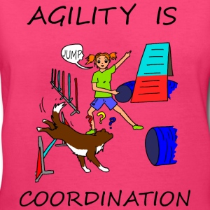 Agility Is - Coordination Women's T-Shirts - Women's V-Neck T-Shirt