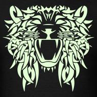 Design ~  TRIBAL LION - GLOW IN THE DARK T-Shirt - Adult Size
