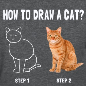 how to draw a cat - Women's T-Shirt
