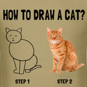 how to draw a cat - Men's T-Shirt