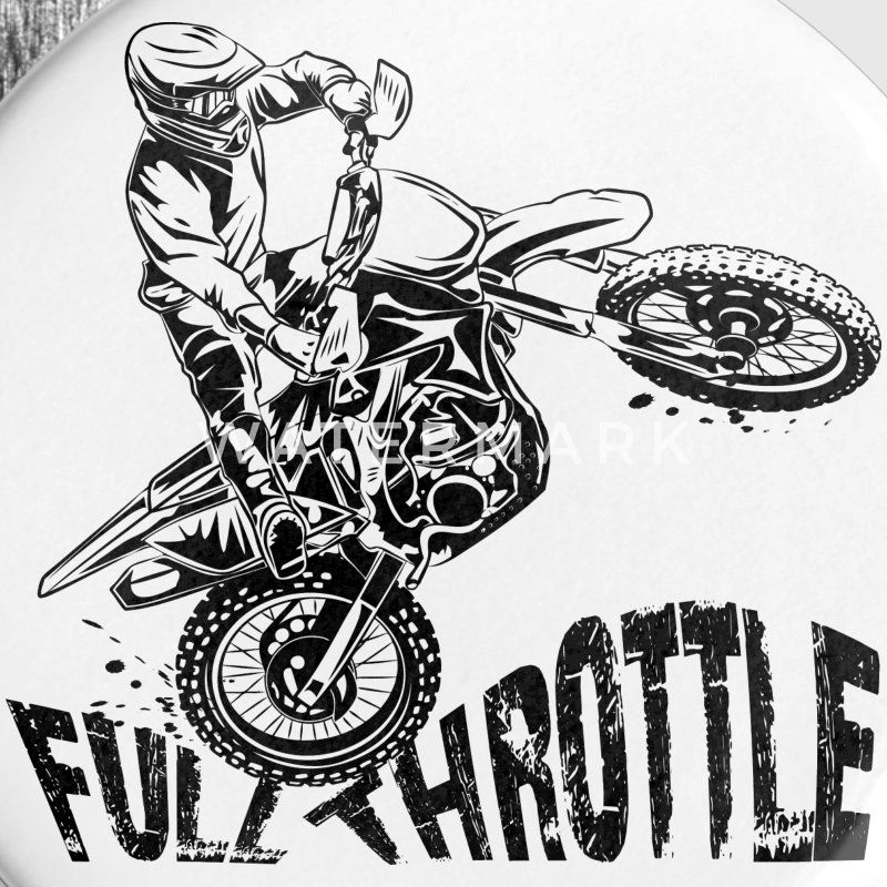 Off-Road Motocross Dirt Bike Full Throttle Buttons - Large Buttons