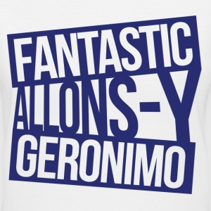 Doctor Who - Fantastic, Allonsy, Geronimo Women's T-Shirts - Women's V-Neck T-Shirt