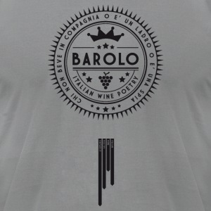 Italian Wine Poetry - BAROLO T-Shirts - Men's T-Shirt by American Apparel