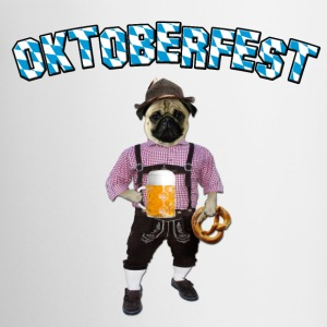 Oktoberfest Pug with beer and pretzel Bottles & Mugs - Coffee/Tea Mug