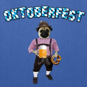 Oktoberfest Pug with beer and pretzel Bags & backpacks - Tote Bag