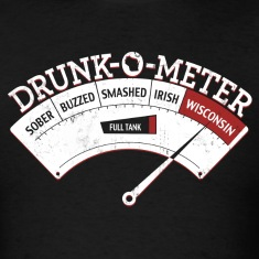 WISCONSIN DRUNK-O-METER T-Shirts
