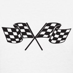 Checkered Flag - Racing - Race Car Women's T-Shirts