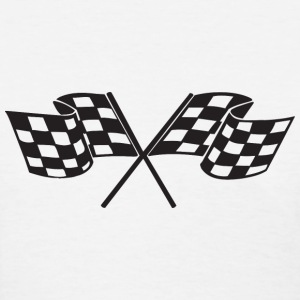 Checkered Flag - Racing - Race Car Women's T-Shirts - Women's T-Shirt