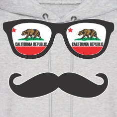Mr Mustache California Hoodies