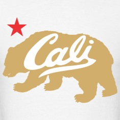 Gold Cali Bear T-Shirts