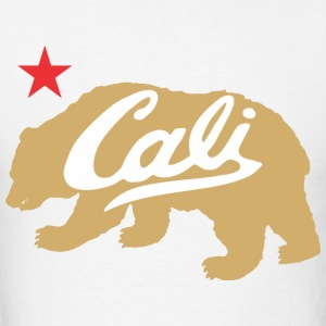 Gold Cali Bear T-Shirts - Men's T-Shirt