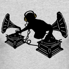 Gramophone Music - DJ & Retro Vinyl Headphones Long Sleeve Shirts
