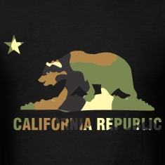 CALIFORNIA REPUBLIC Bear Camoflage T-Shirts