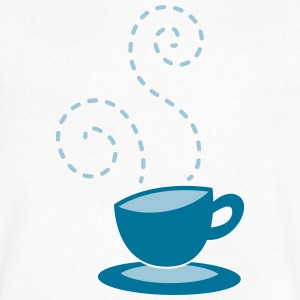 cappuccino coffee hipster cup with steam T-Shirts - Men's V-Neck T-Shirt by Canvas