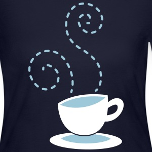 cappuccino coffee hipster cup with steam Long Sleeve Shirts - Women's Long Sleeve Jersey T-Shirt