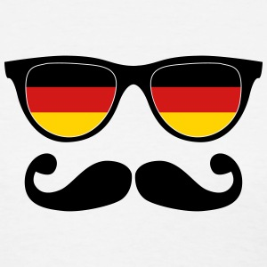 german moustache glasses nerd Women's T-Shirts - Women's T-Shirt