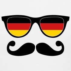 german moustache glasses nerd Women's T-Shirts
