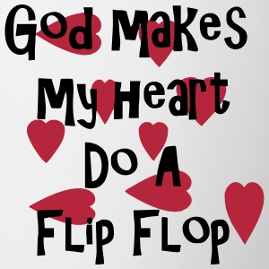 god_makes_my_heart_do_a_flip_flop2 Bottles & Mugs - Coffee/Tea Mug