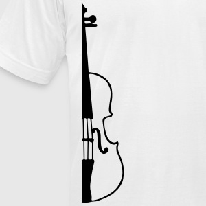 half violin T-Shirts - Men's T-Shirt by American Apparel