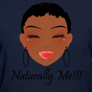 Natural Girl short hair (lighter shade).png Women's T-Shirts - Women's T-Shirt