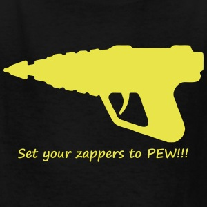 set zappers to pew Kids' Shirts - Kids' T-Shirt