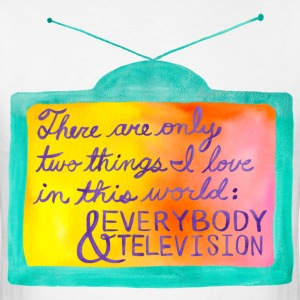 Everybody & Television (turquoise+purple) T-Shirts - Men's T-Shirt