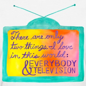 Everybody & Television (turquoise+purple) Women's T-Shirts - Women's T-Shirt