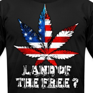 Land of the Free T-Shirts - Men's T-Shirt by American Apparel