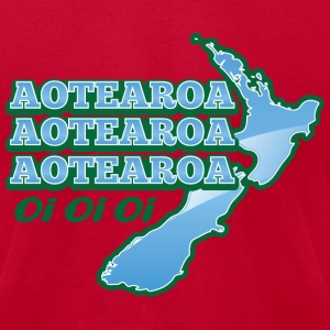 AOTEAROA OI OI OI NEW ZEALAND map  T-Shirts - Men's T-Shirt by American Apparel