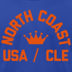 North Coast Cavs Flock Print on Blue - Made in USA - Men's T-Shirt by American Apparel