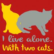 Design ~ I live alone with two cats