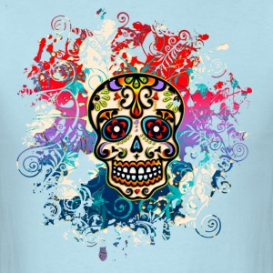 Mexican Sugar Skull, Flowers, Ornaments, Dead T-Shirts - Men's T-Shirt