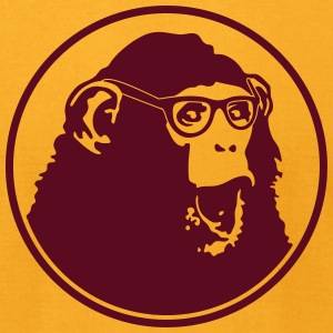 Nerdy Ape with Glasses T-Shirts - Men's T-Shirt by American Apparel
