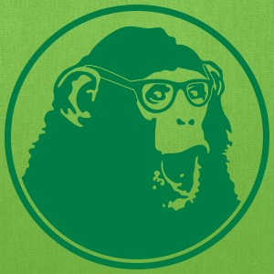 Nerdy Ape with Glasses Bags & backpacks - Tote Bag