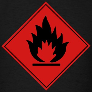Flammable Warning Sign T-Shirts - Men's T-Shirt