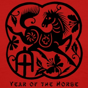 Year of The Horse Paper Cut T-Shirt - Women's T-Shirt